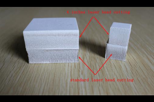 Cutting result Standard Head vs 4'' Head