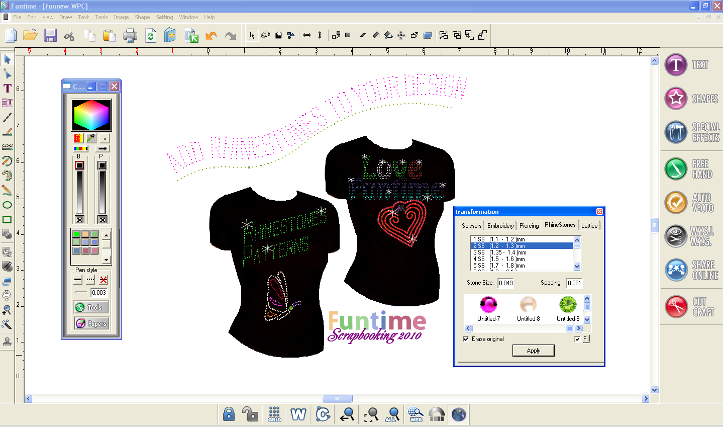 Funtime Scrapbooking Pro 2010 Cutting Software Auto