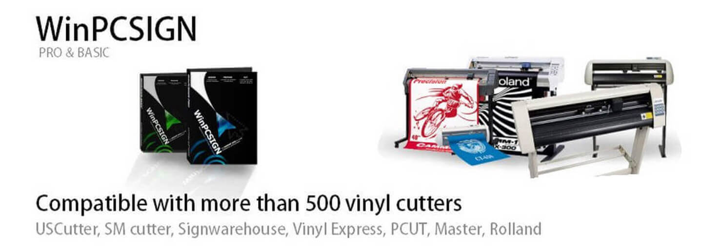 Compatible with more than 500 vinyl cutters