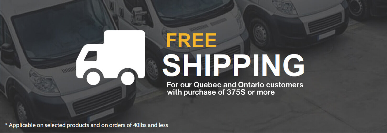 Free shipping for Quebec residents