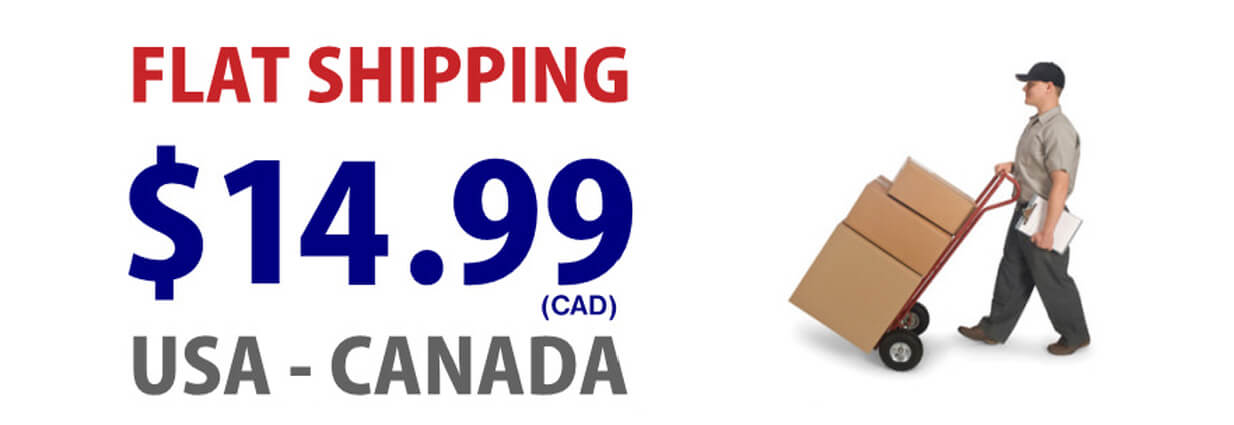 PROMOTION: FLAT RATE SHIPPING 14.99 (CAD)