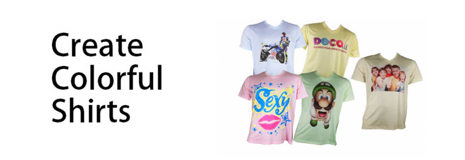 Sublimation:Create colorful shirts