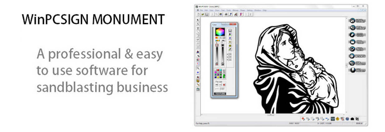 WinPCSIGN Monument - A complete sandblasting software