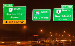 Reflective highway signs