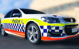 Reflective police car striping