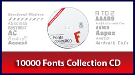 10000  Fonts Collection CD