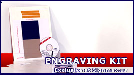 Diamond Engraving Kit for Anagraph PD, Graphtec and CraftROBO  vinyl cutters