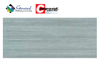 Comp-u-cut - Chrome Brushed vinyl - 1 yard by 15&#39&#39