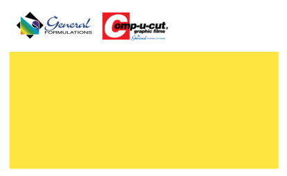 Comp-u-cut - Yellow paint mask - 1 Roll (50 yards x 24'')