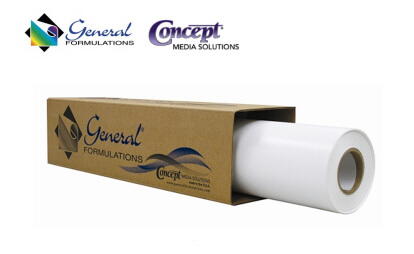 GENERAL FORMULATION - 201- 3,4 mil mat 54'' (or 50'') x 50 yards, permanent glue 5 years