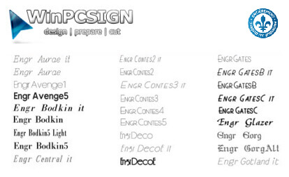 104 Engraving  Fonts package