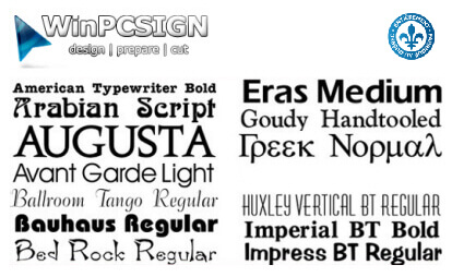 182 Fonts package