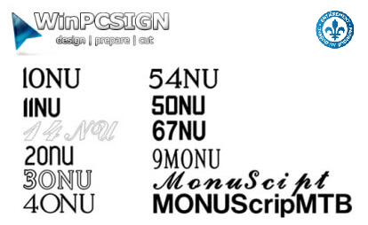 18 Monument Fonts package