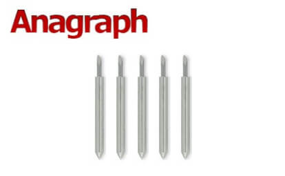 5 high quality blades (60 degrees) for Anagraph & PD (APD) vinyl cutters