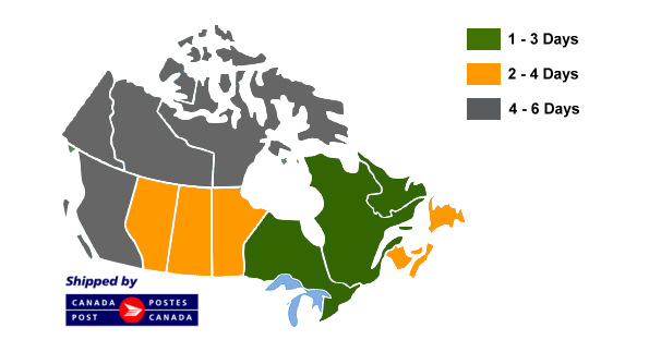 Shipping map for Canadien